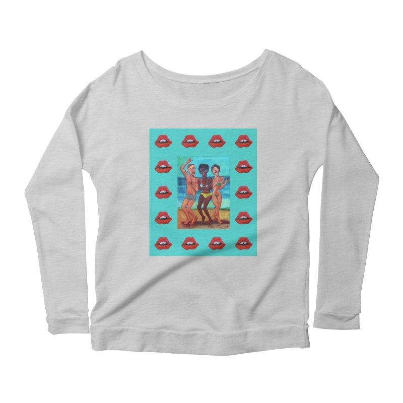 Dancing on the beach 3 Women's Scoop Neck Longsleeve T-Shirt by diegomanuel's Artist Shop