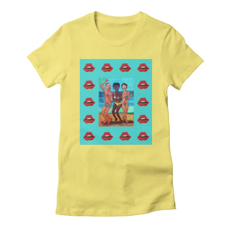 Dancing on the beach 3 Women's Fitted T-Shirt by diegomanuel's Artist Shop