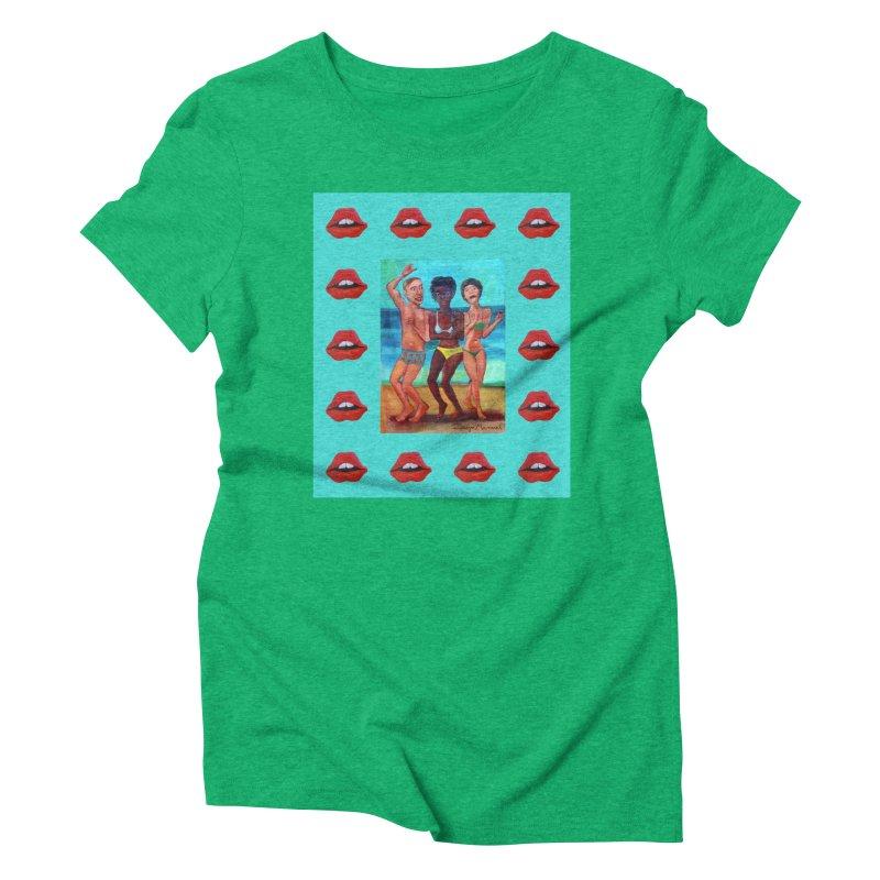 Dancing on the beach 3 Women's Triblend T-Shirt by diegomanuel's Artist Shop