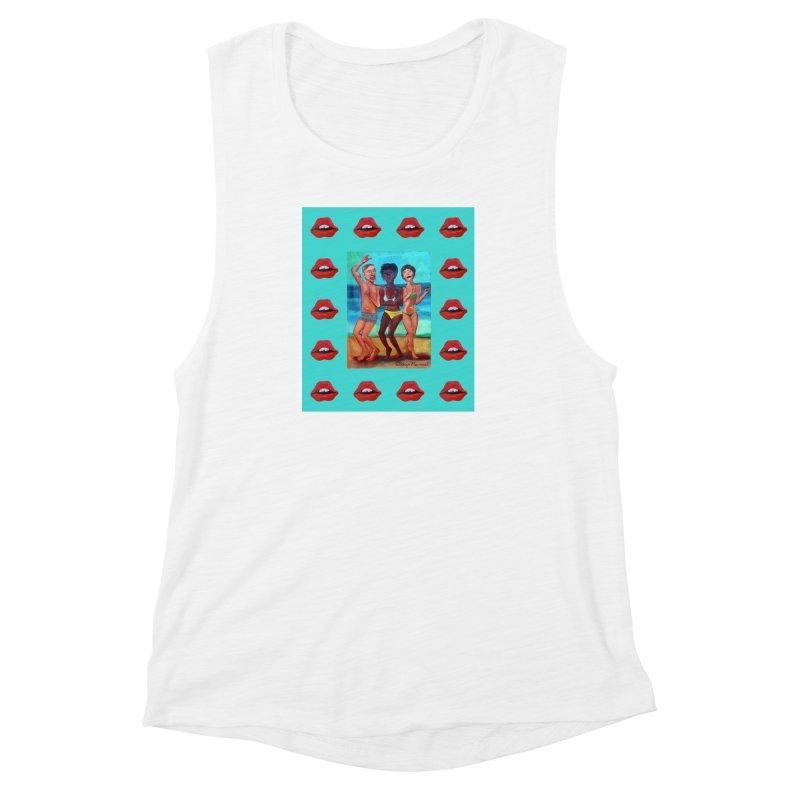 Dancing on the beach 3 Women's Muscle Tank by diegomanuel's Artist Shop