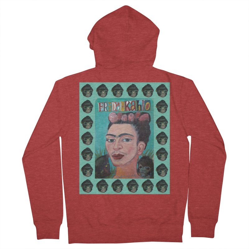 Frida 2 Women's French Terry Zip-Up Hoody by diegomanuel's Artist Shop