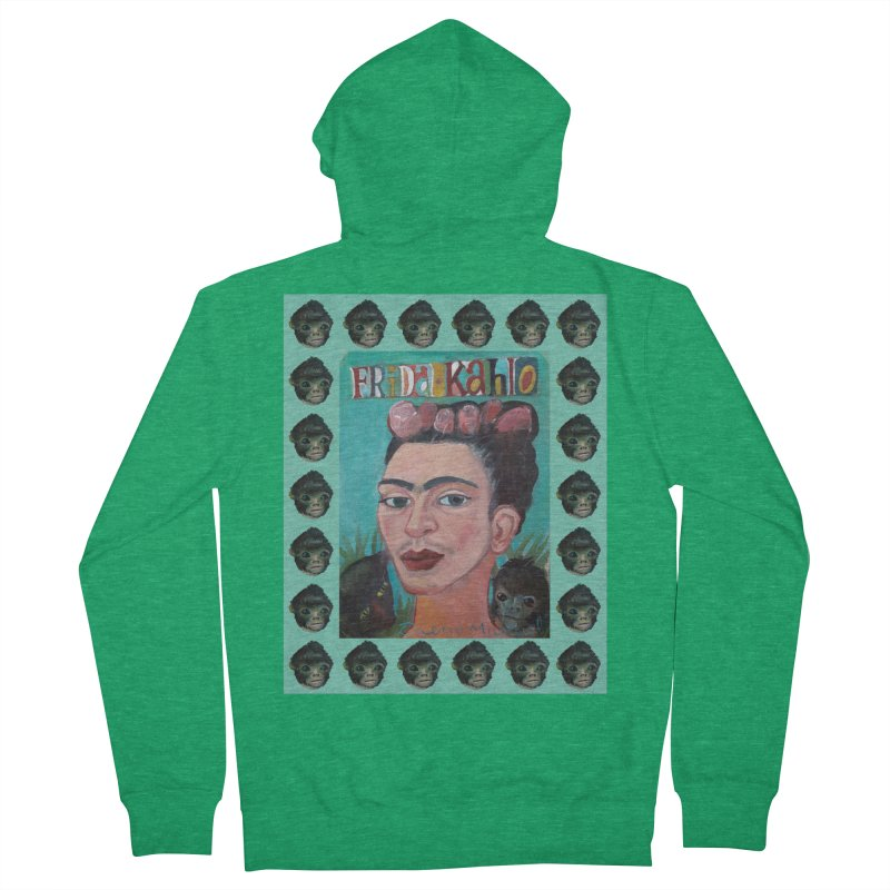 Frida 2 Men's French Terry Zip-Up Hoody by diegomanuel's Artist Shop