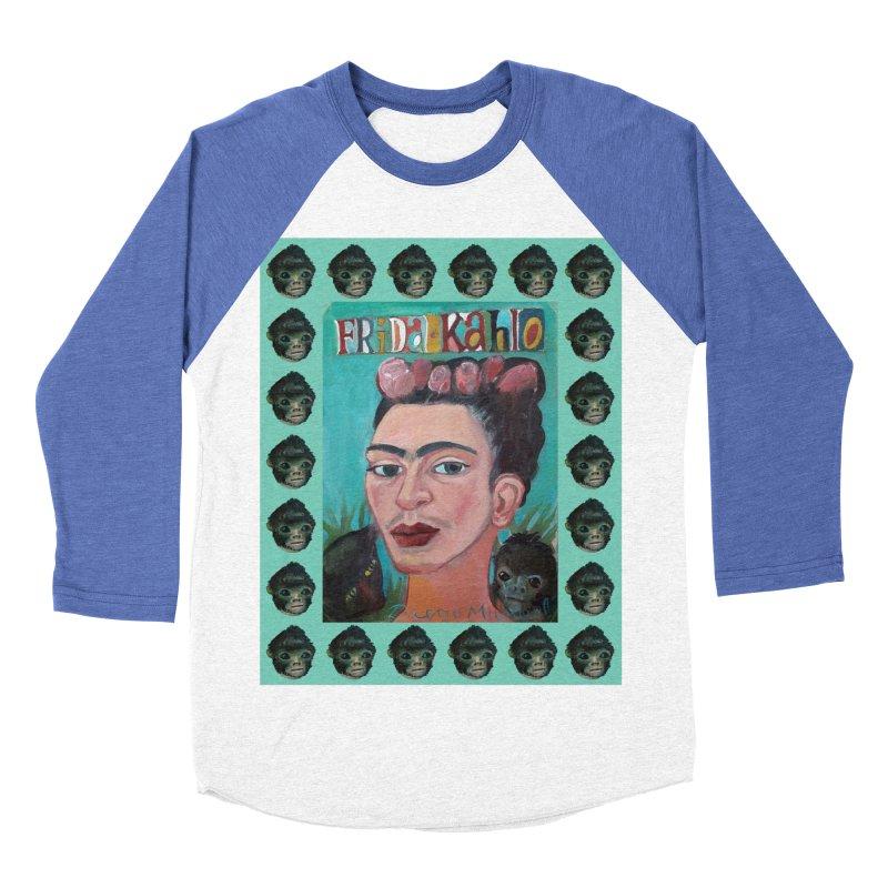 Frida 2 Women's Baseball Triblend Longsleeve T-Shirt by diegomanuel's Artist Shop