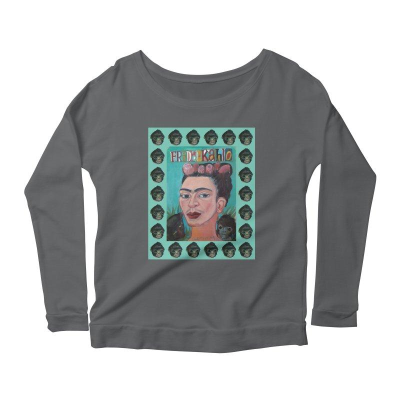 Frida 2 Women's Scoop Neck Longsleeve T-Shirt by diegomanuel's Artist Shop