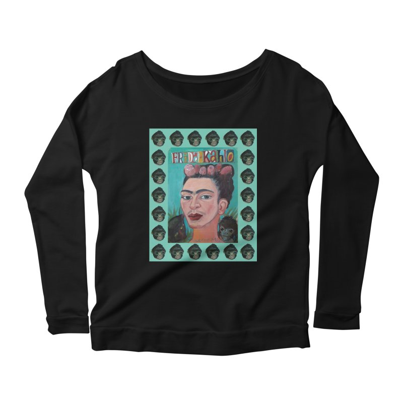 Frida 2 Women's Scoop Neck Longsleeve T-Shirt by diegomanuel's Artist Shop
