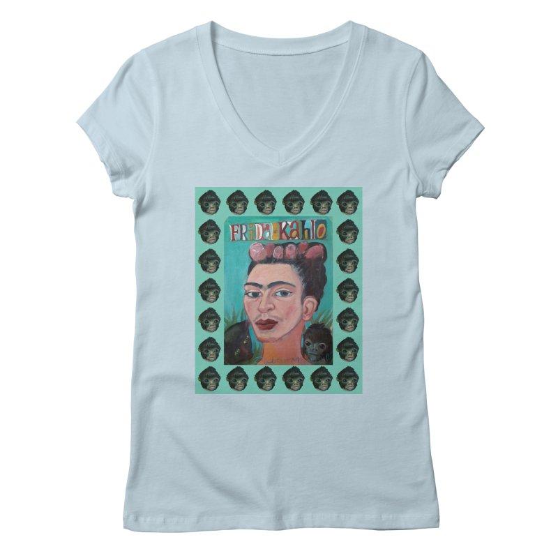 Frida 2 Women's Regular V-Neck by diegomanuel's Artist Shop