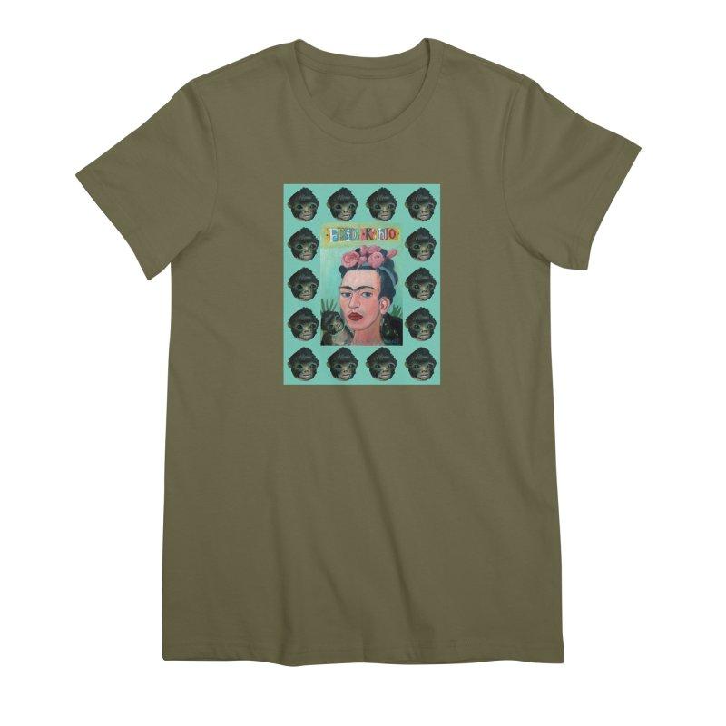 Frida 1 Women's Premium T-Shirt by diegomanuel's Artist Shop