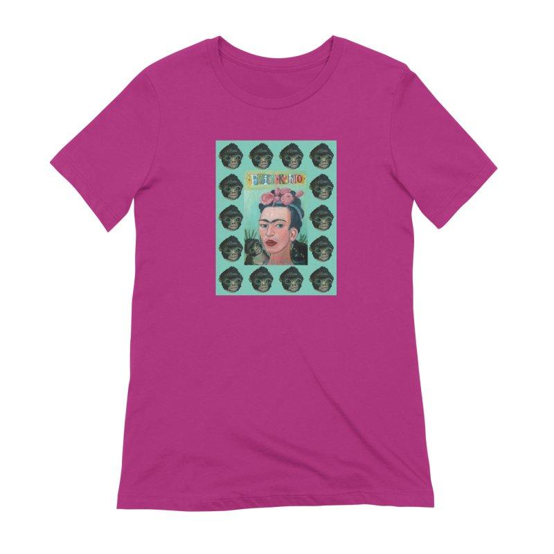 Frida 1 Women's Extra Soft T-Shirt by diegomanuel's Artist Shop