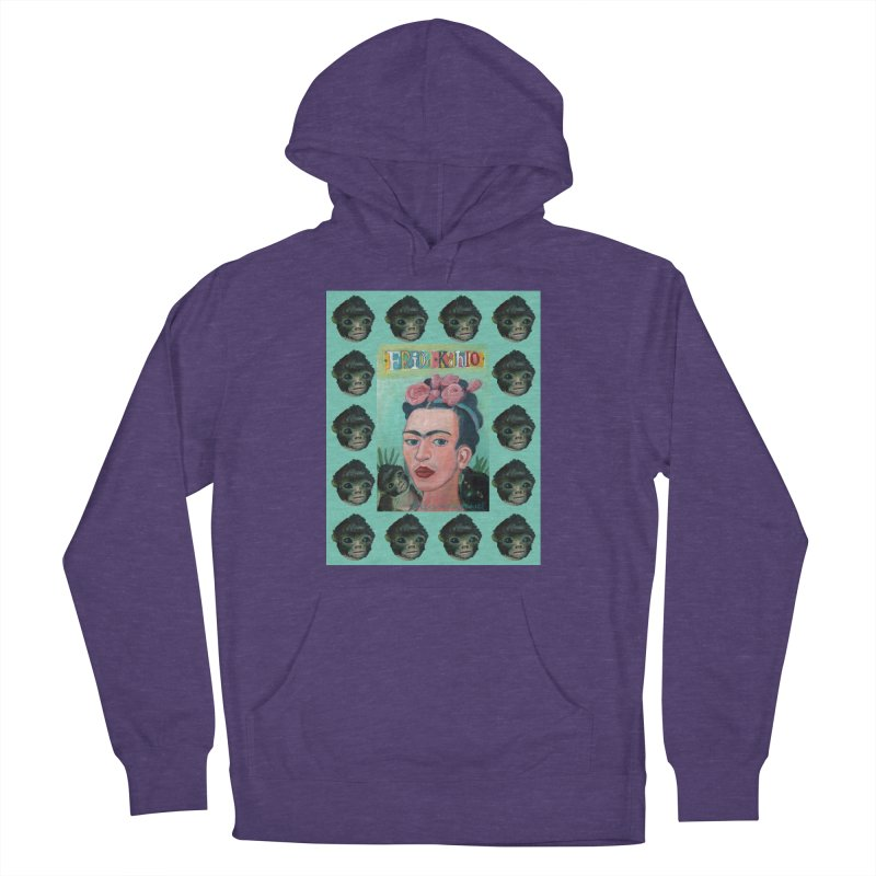 Frida 1 Women's French Terry Pullover Hoody by diegomanuel's Artist Shop