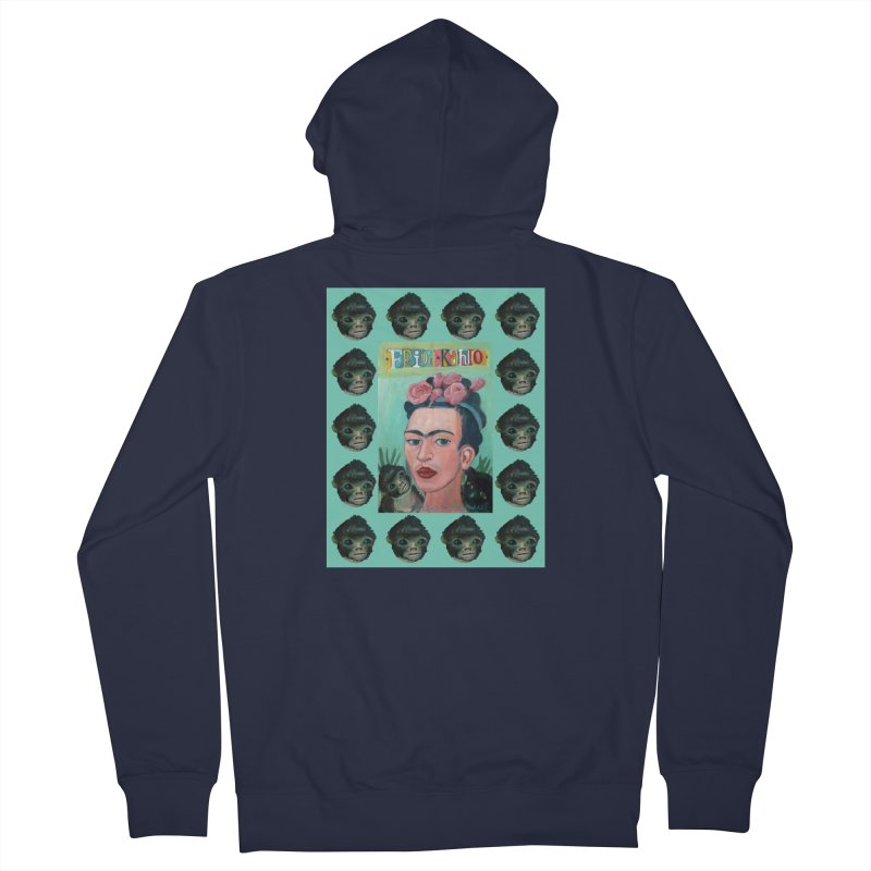 Frida 1 Women's French Terry Zip-Up Hoody by diegomanuel's Artist Shop