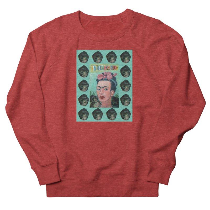 Frida 1 Women's French Terry Sweatshirt by diegomanuel's Artist Shop