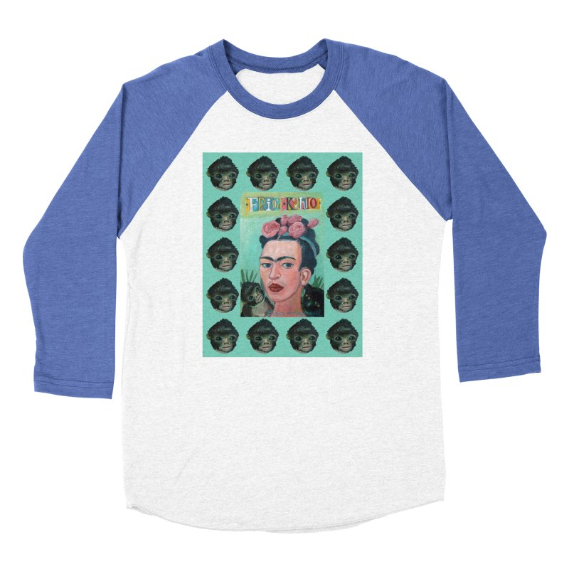 Frida 1 Women's Baseball Triblend Longsleeve T-Shirt by diegomanuel's Artist Shop
