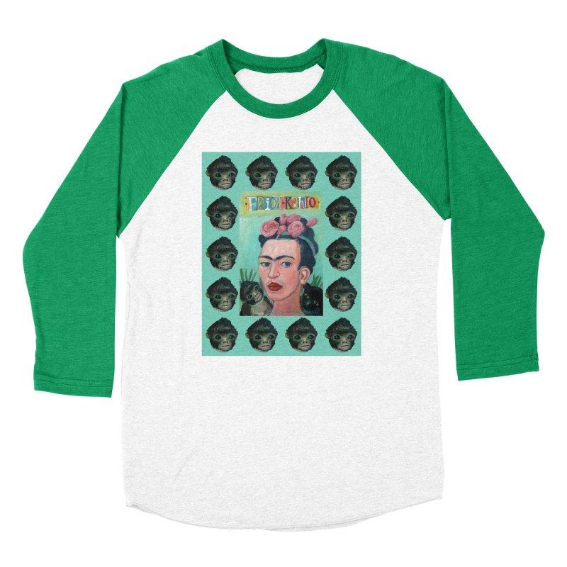 Frida 1 Men's Baseball Triblend Longsleeve T-Shirt by diegomanuel's Artist Shop