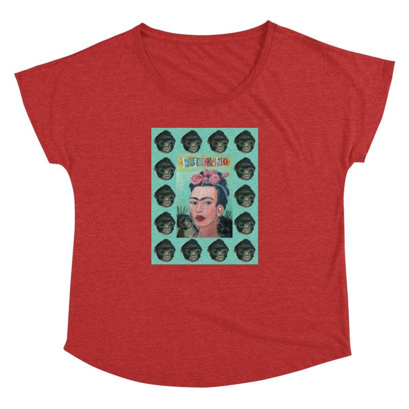 Frida 1 Women's Dolman Scoop Neck by diegomanuel's Artist Shop