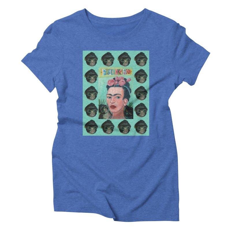 Frida 1 Women's Triblend T-Shirt by diegomanuel's Artist Shop