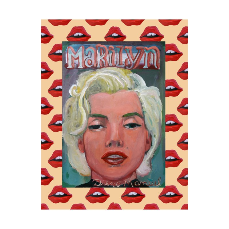Marilyn Women's V-Neck by Diego Manuel Rodriguez Artist Shop