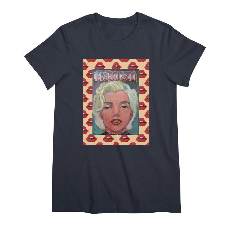 Marilyn Women's Premium T-Shirt by diegomanuel's Artist Shop