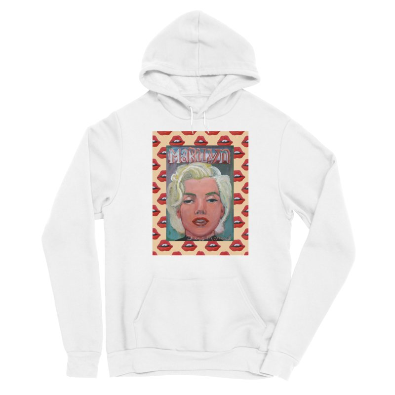 Marilyn Women's Sponge Fleece Pullover Hoody by diegomanuel's Artist Shop