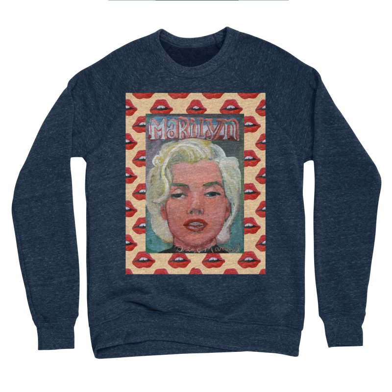 Marilyn Women's Sponge Fleece Sweatshirt by diegomanuel's Artist Shop