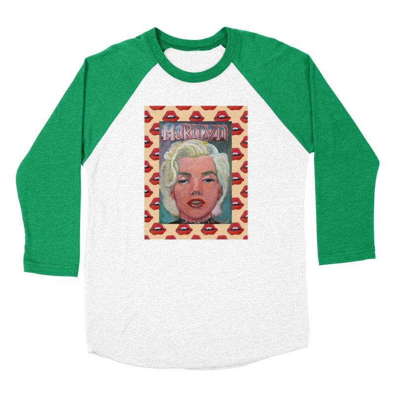 Marilyn Women's Baseball Triblend Longsleeve T-Shirt by diegomanuel's Artist Shop