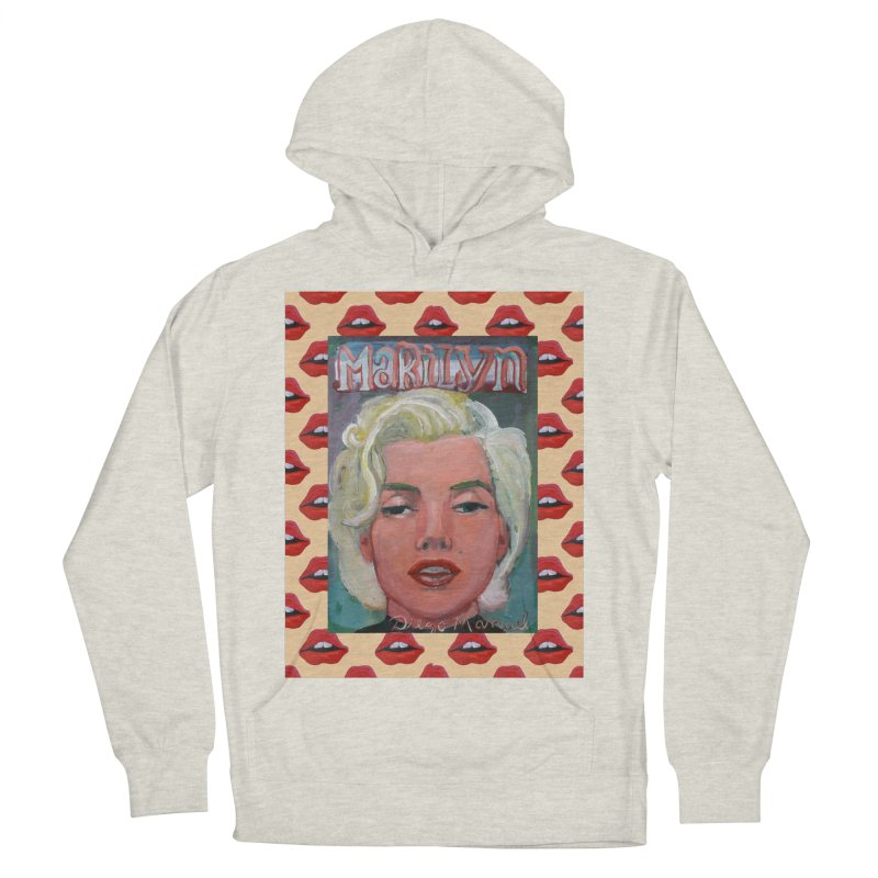 Marilyn Women's French Terry Pullover Hoody by diegomanuel's Artist Shop