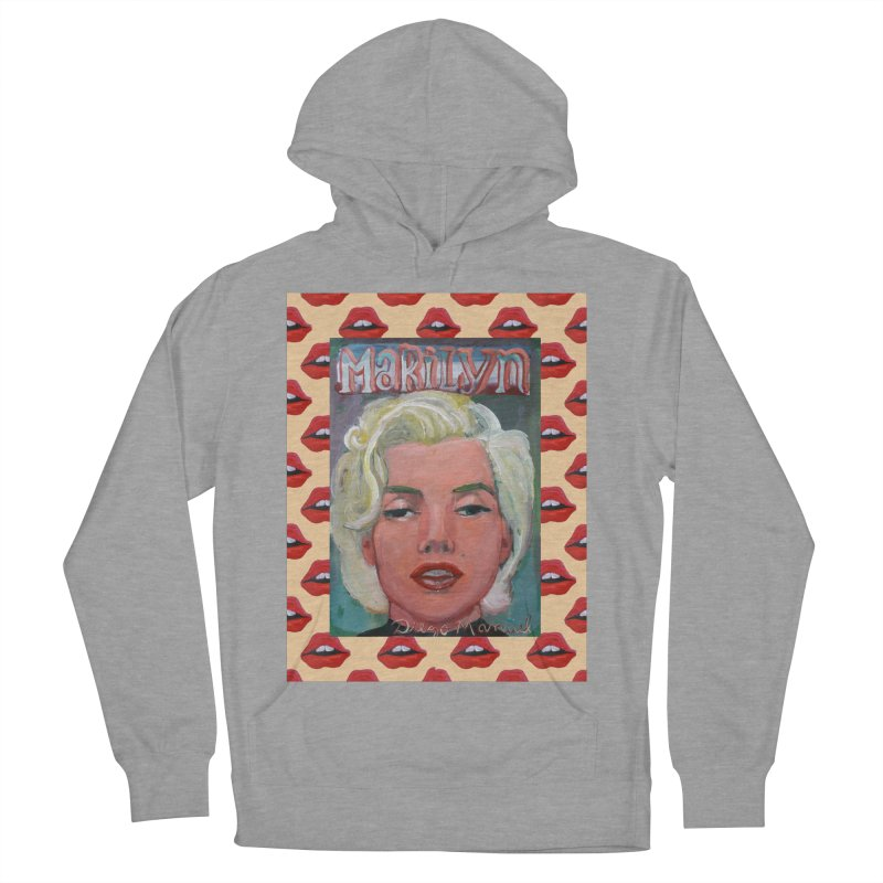 Marilyn Men's French Terry Pullover Hoody by diegomanuel's Artist Shop