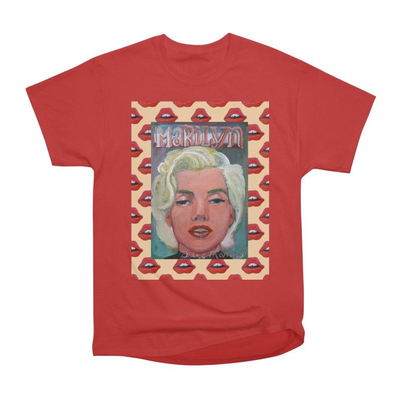Marilyn Women's Heavyweight Unisex T-Shirt by diegomanuel's Artist Shop