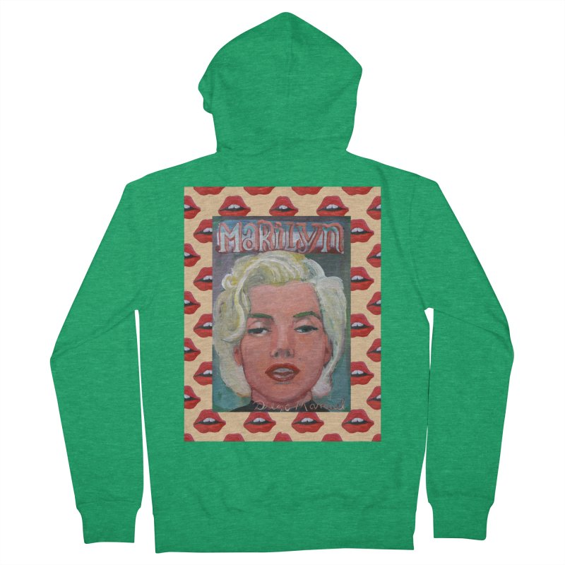 Marilyn Women's Zip-Up Hoody by Diego Manuel Rodriguez Artist Shop