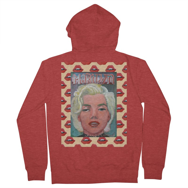 Marilyn Women's French Terry Zip-Up Hoody by diegomanuel's Artist Shop