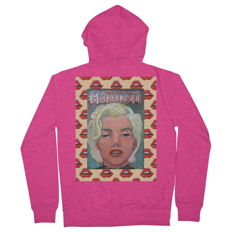 Marilyn Women's French Terry Zip-Up Hoody by diegomanuel's Artist Shop