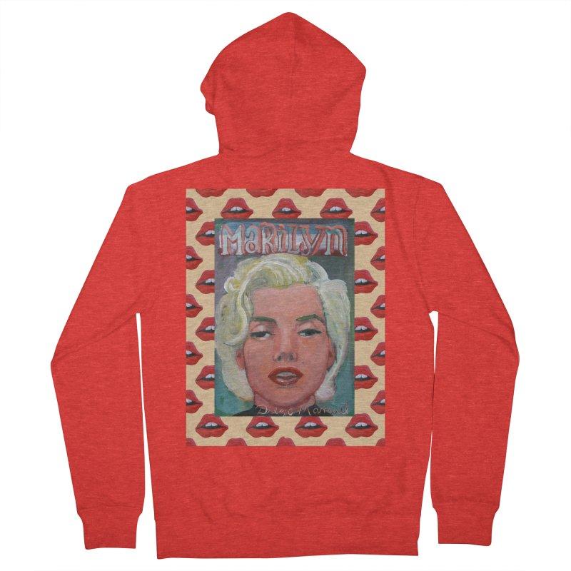 Marilyn Men's Zip-Up Hoody by Diego Manuel Rodriguez Artist Shop