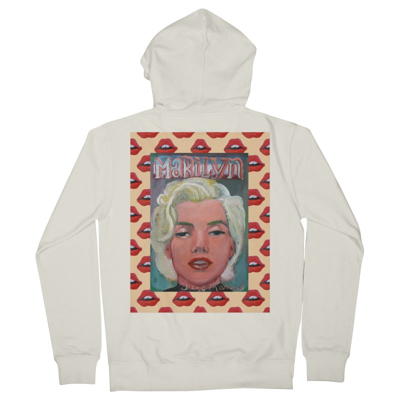 Marilyn Men's Zip-Up Hoody by Diego Manuel Rodriguez Artist Shop