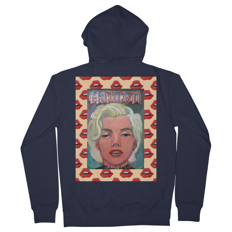 Marilyn Men's French Terry Zip-Up Hoody by diegomanuel's Artist Shop