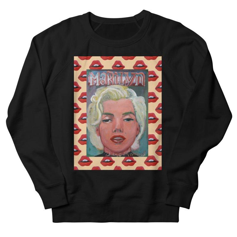 Marilyn Women's French Terry Sweatshirt by diegomanuel's Artist Shop