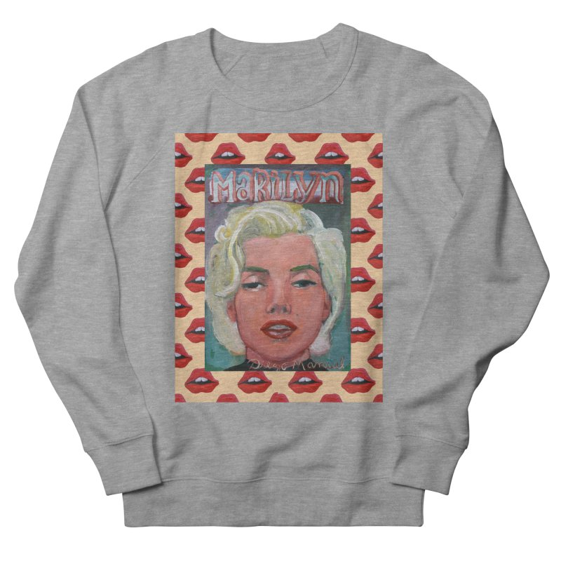 Marilyn Men's French Terry Sweatshirt by diegomanuel's Artist Shop