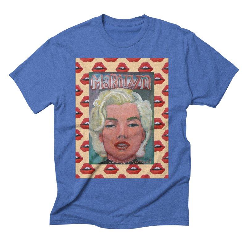 Marilyn Men's Triblend T-Shirt by diegomanuel's Artist Shop