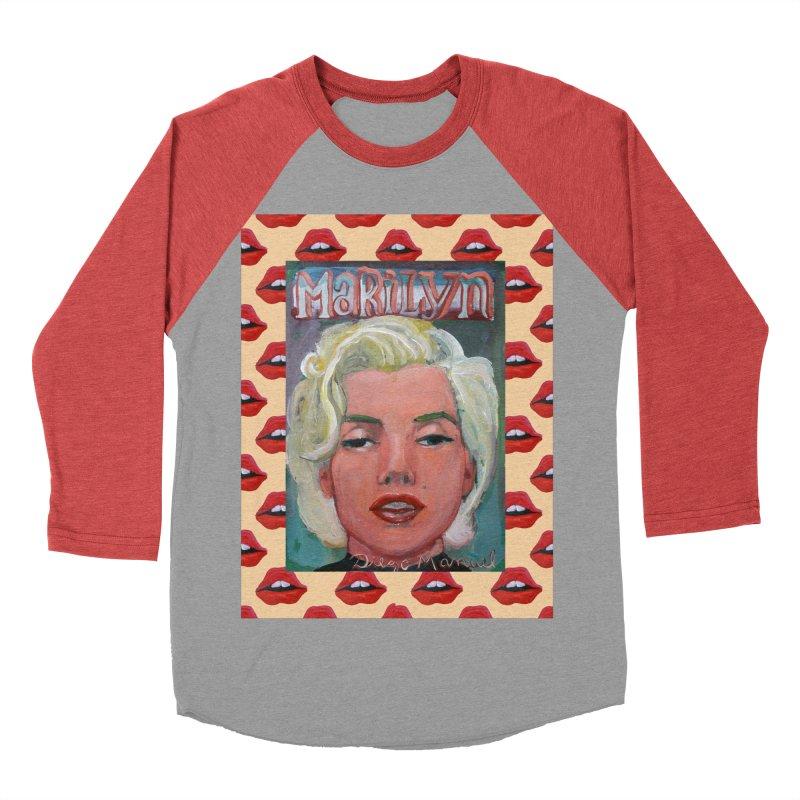 Marilyn Men's Baseball Triblend Longsleeve T-Shirt by diegomanuel's Artist Shop