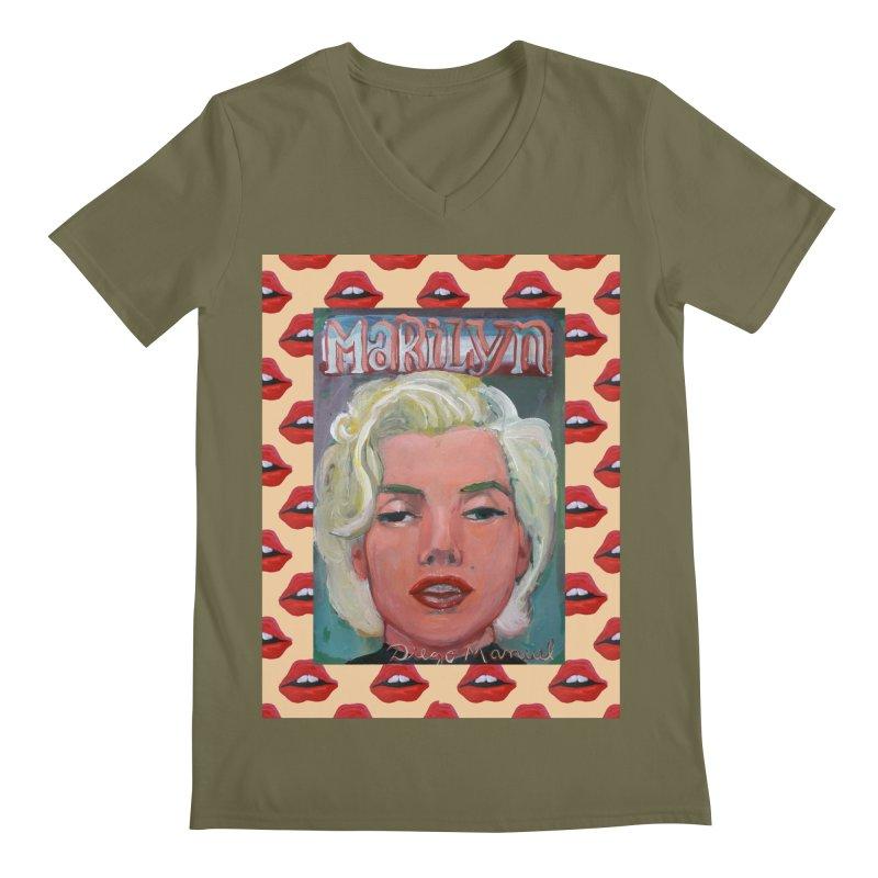 Marilyn Men's V-Neck by Diego Manuel Rodriguez Artist Shop