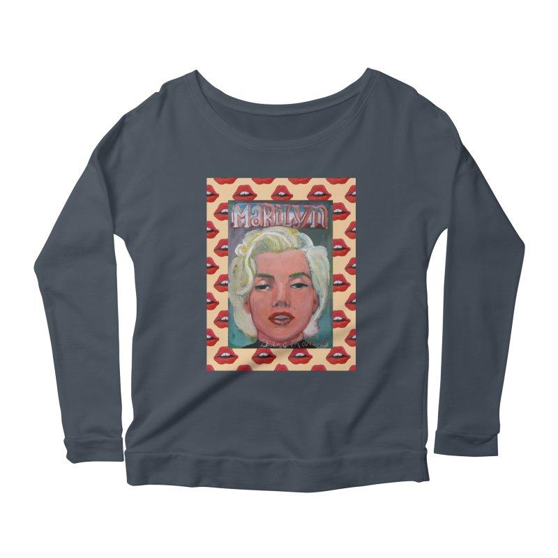 Marilyn Women's Scoop Neck Longsleeve T-Shirt by diegomanuel's Artist Shop