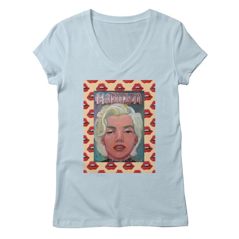 Marilyn Women's V-Neck by Diego Manuel Rodriguez Artist Shop