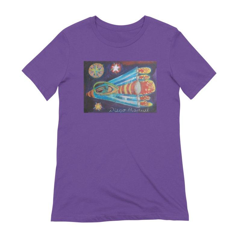 spaceship Women's Extra Soft T-Shirt by diegomanuel's Artist Shop