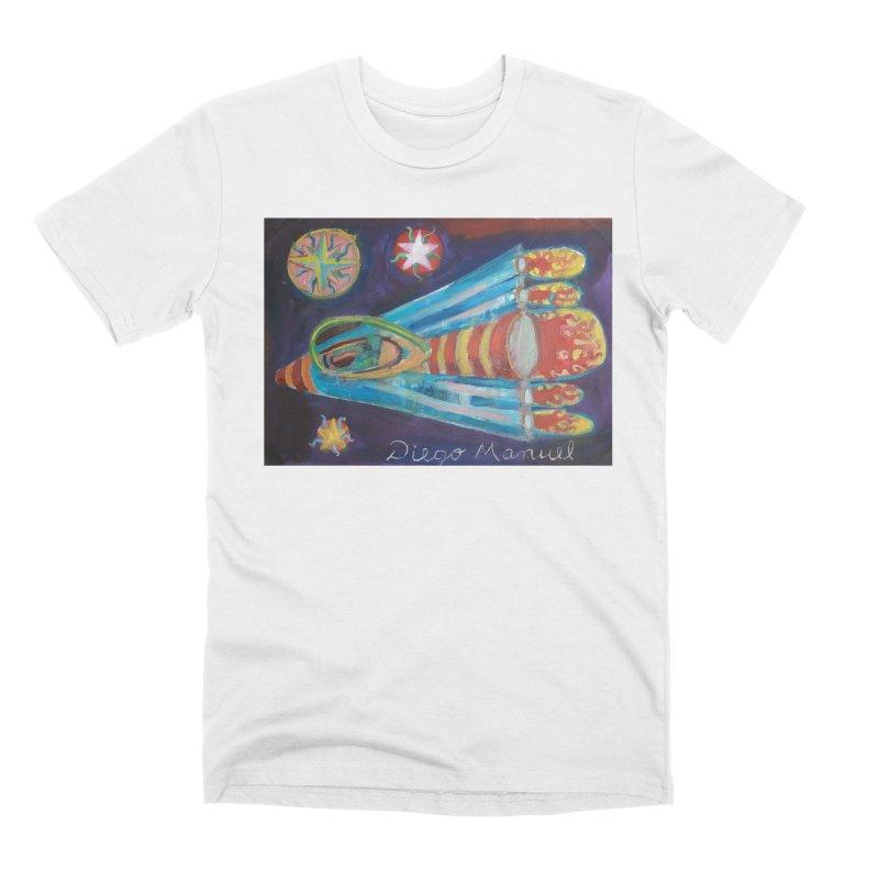 spaceship Men's Premium T-Shirt by diegomanuel's Artist Shop