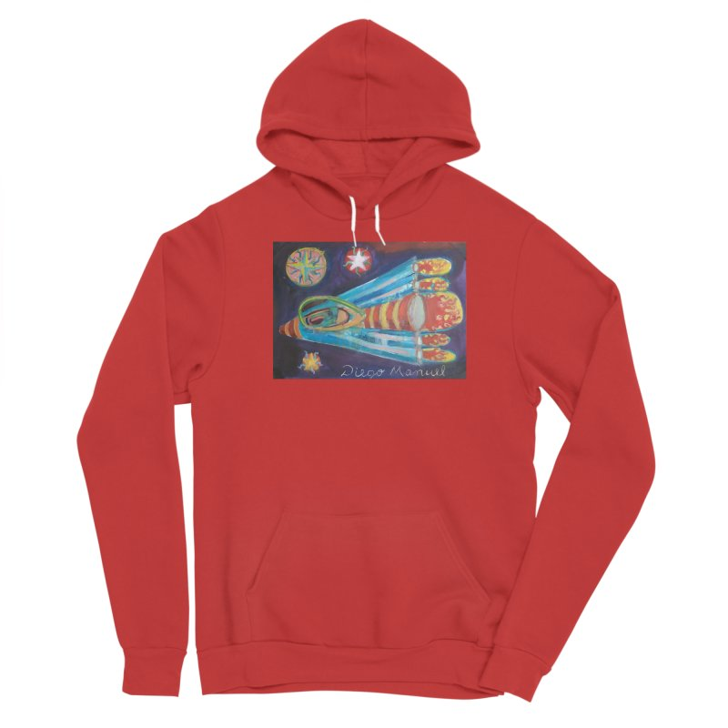 spaceship Men's Pullover Hoody by Diego Manuel Rodriguez Artist Shop