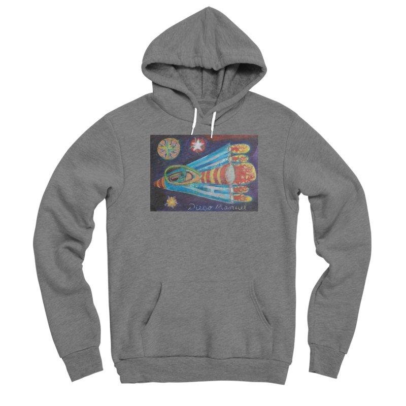 spaceship Men's Sponge Fleece Pullover Hoody by diegomanuel's Artist Shop