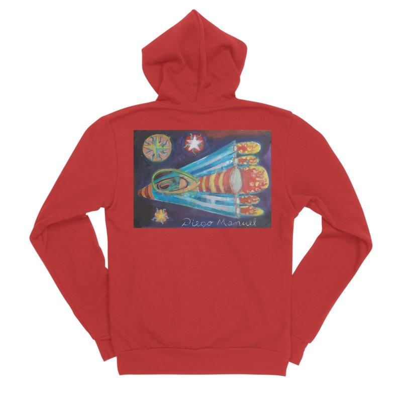 spaceship Women's Sponge Fleece Zip-Up Hoody by diegomanuel's Artist Shop