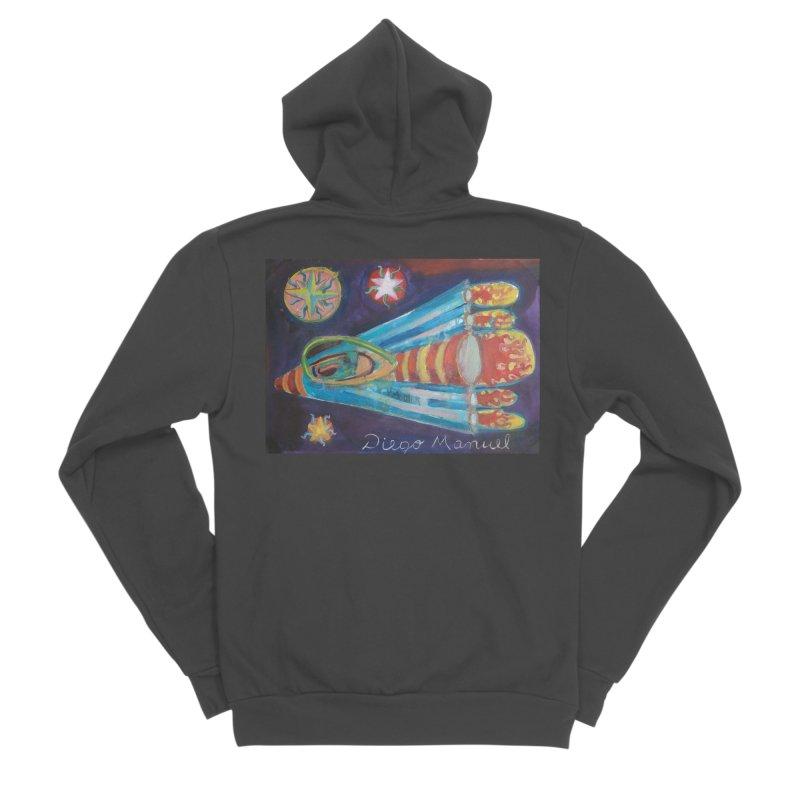spaceship Men's Sponge Fleece Zip-Up Hoody by diegomanuel's Artist Shop