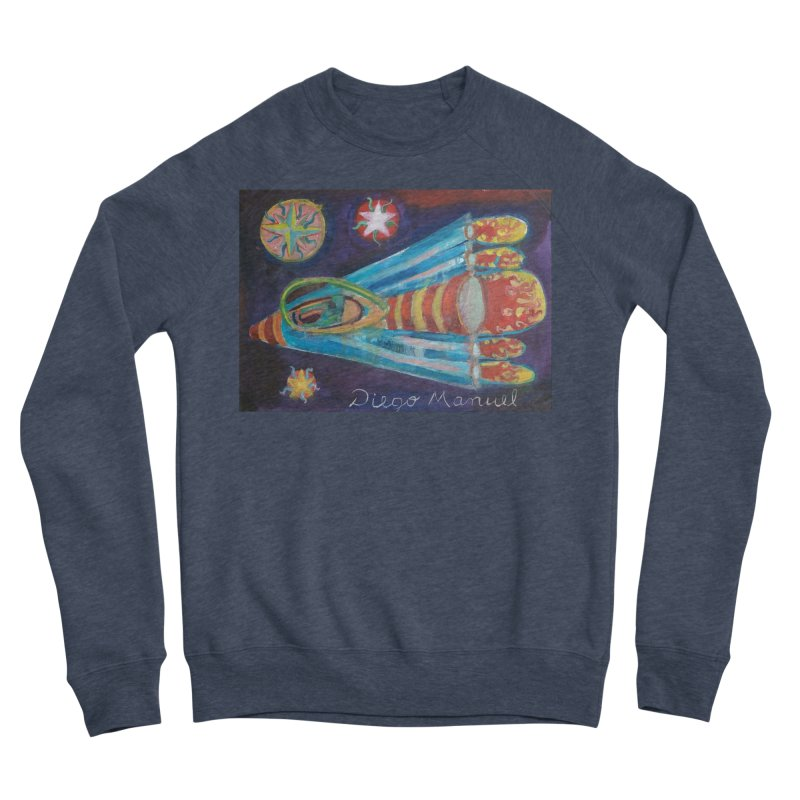 spaceship Men's Sponge Fleece Sweatshirt by diegomanuel's Artist Shop