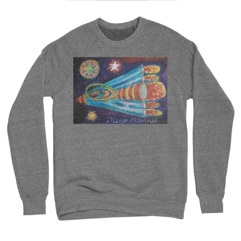 spaceship Women's Sponge Fleece Sweatshirt by diegomanuel's Artist Shop