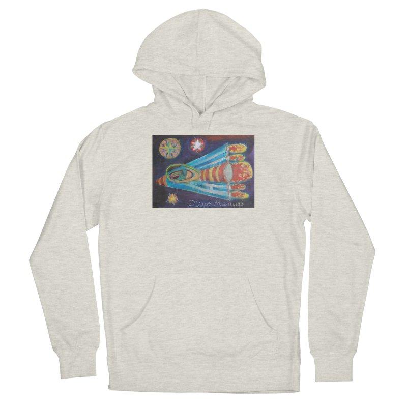 spaceship Men's Pullover Hoody by Diego Manuel Rodriguez Artist Shop