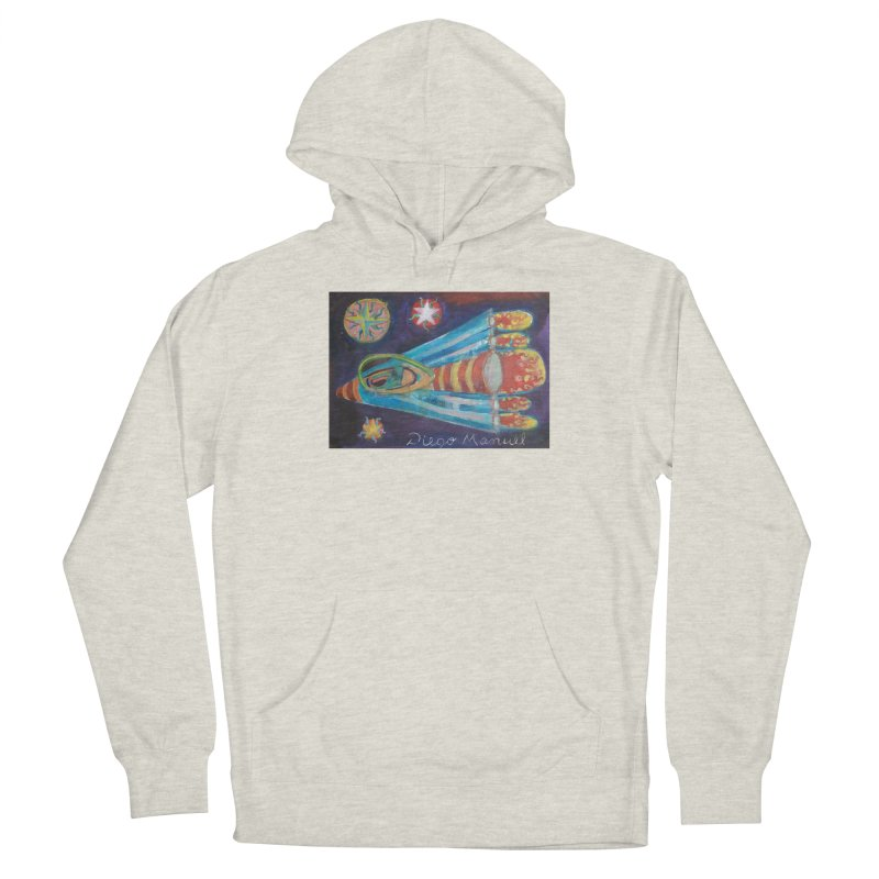 spaceship Women's French Terry Pullover Hoody by diegomanuel's Artist Shop